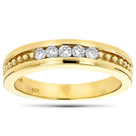 14k Gold Wedding Band by 14k Gold S Wedding Band 0 25ct All
