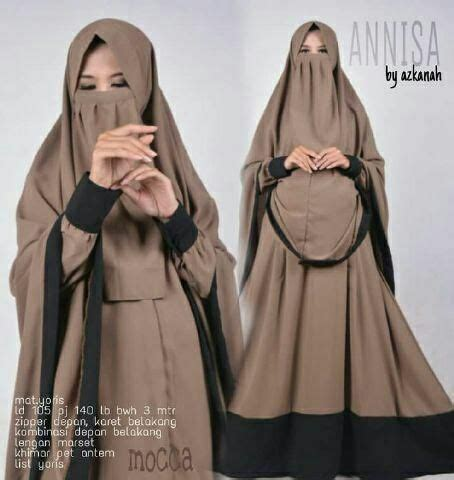 Ninna Set Syari Gamis Bublepop baju gamis syari cadar hajar set setelan wishlist hijabs and fashion