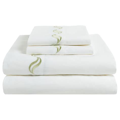 westport home 300 tc percale sheet set scroll