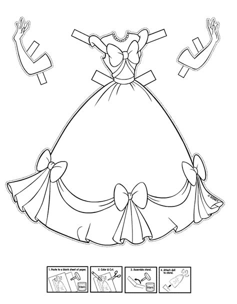coloring page of a dress free cartoon dresses coloring pages