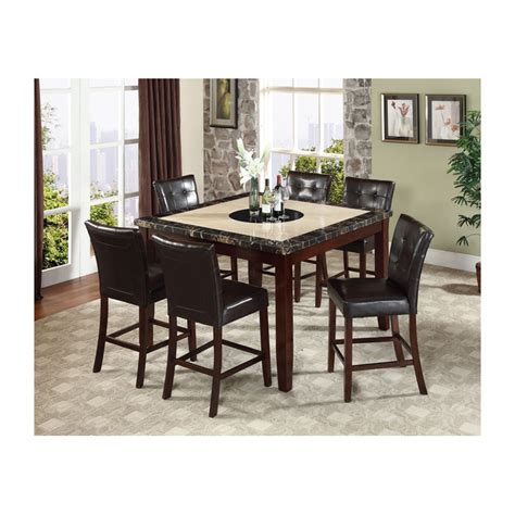 7pc dining room sets chicago 7pc counter height dining set