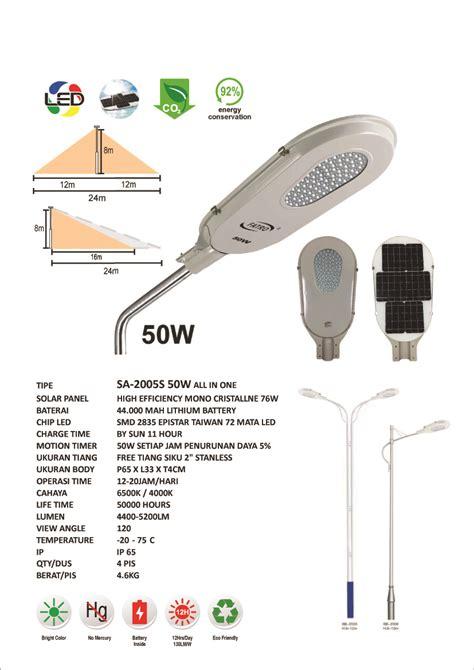 jual lu jalan led jual pju solar integrated all in one 50 watt