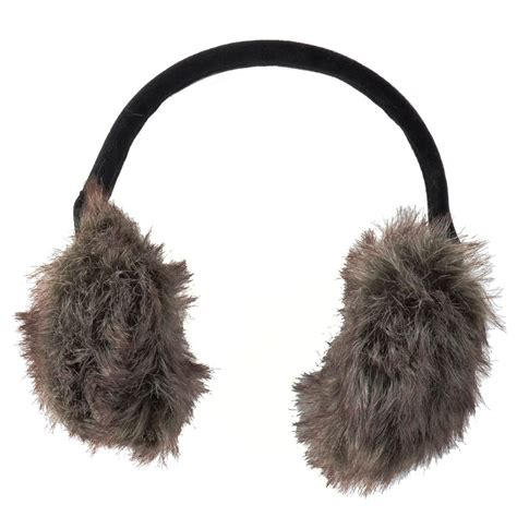 ear muffs 2 toned faux fur ear muffs with black headband winter accessory ebay