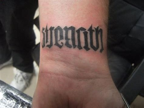 ambigram tattoo 30 wrist tattoos