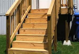 mobile home stairs for wooden stairs for mobile home mobile homes ideas