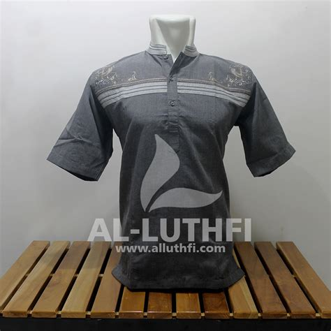 Baju Koko Al Luthfi Bm Al 26 baju koko al luthfi tangan pendek al 015 al luthfi