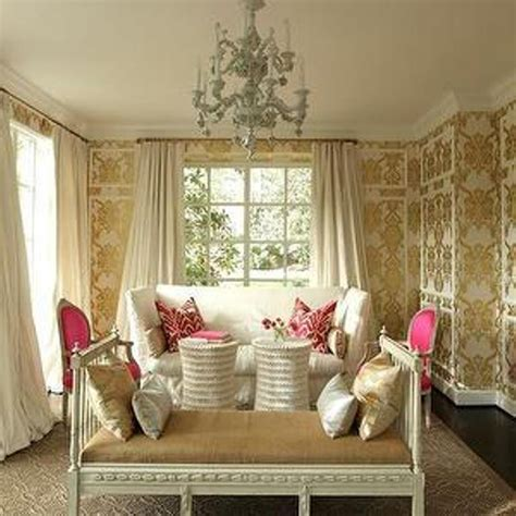 beautiful living room wallpaper 30 and chic living rooms with damask wallpaper rilane