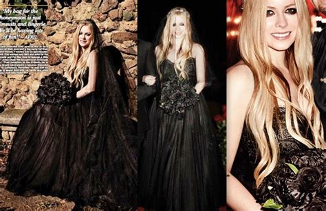 Avril Lavigne On A Stylish Wedding by Avril Lavigne Black Wedding Dress Www Pixshark