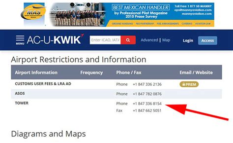 Chicago Phone Number Lookup Are Air Traffic Tower Phone Numbers On Acukwik Fbo And Business