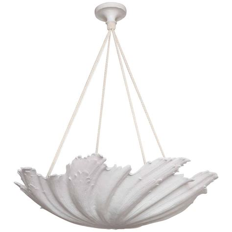 shell chandelier wp sullivan plaster shell chandelier for sale at 1stdibs