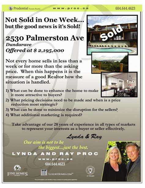 Realtor Marketing Do Just Sold Flyers Work Good Ideas Are A Dime A Dozen But Real Estate Just Sold Flyer Templates