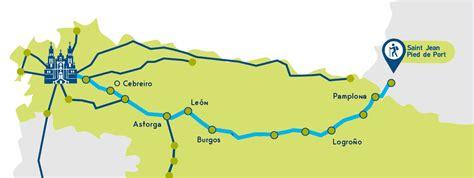 camino de santiago frances el camino franc 233 s etapas y mapa camino de santiago