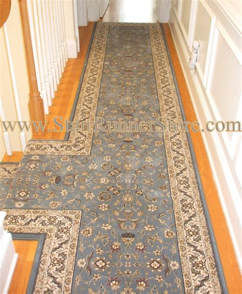 custom rug runners custom fabrication quot t quot landing hallway traditional bridgeport by the stair runner