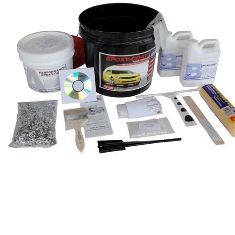 Garage Floor Paint 5 Gallon Shop Epoxy Coat 1 5 Gallon Size Container Interior High