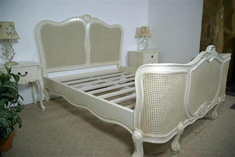 regency rattan bed  antique whitecream hampshire barn