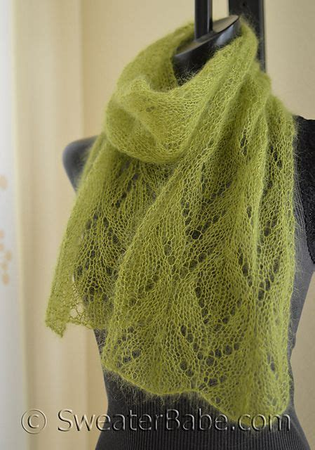 knit scarf pattern yarn over 211 chalice one ball scarf pattern by sweaterbabe lace