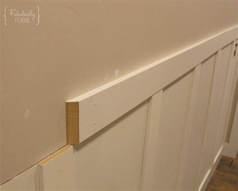 Putting Wainscoting On Walls Diy Board And Batten Wainscoting Fabulessly Frugal