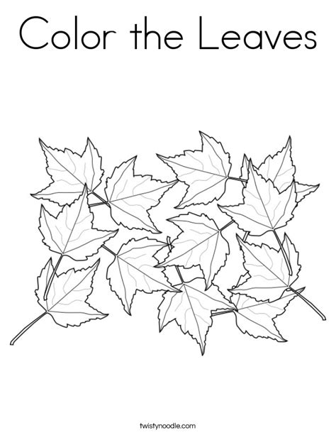 Free Coloring Pages Of Maple Leaves Maple Leaf Coloring