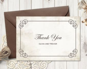 thank you card insert template thank you insert etsy