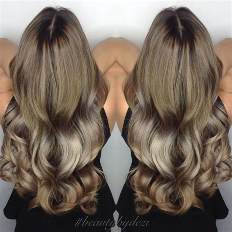 ash brown with ash blonde balayage pictures beautybydezy dark ash blonde with ash brown balayage yelp