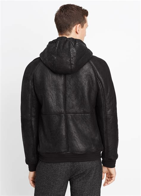 Nerina Black Bomber Jacket vince shearling bomber jacket with in black for lyst