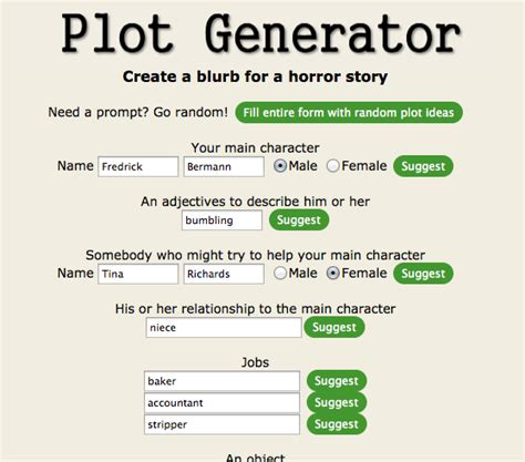 story a novel write your own spooky story with random plot generators