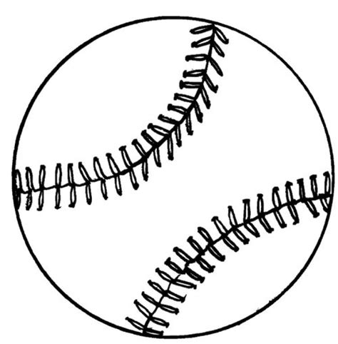 baseball template printable baseball glove drawing clipart best