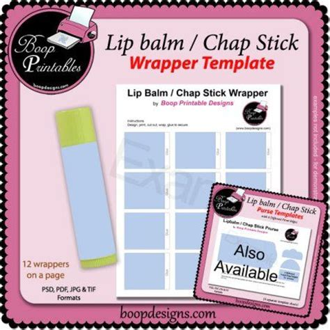 chapstick label template lip balm chap stick wrapper printable temp blank