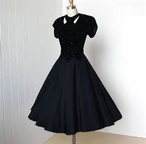Vintage 1940 s dress classic hollywood glam velvet by traven7