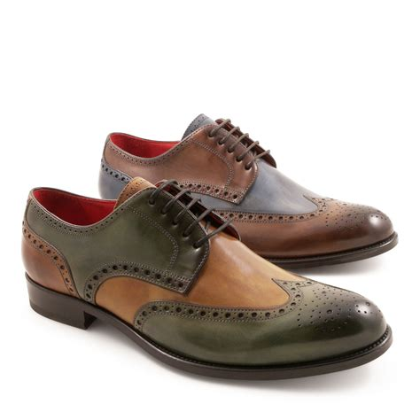 Handmade Leather Brogues - handmade s brogue shoes 2 tone italian leather