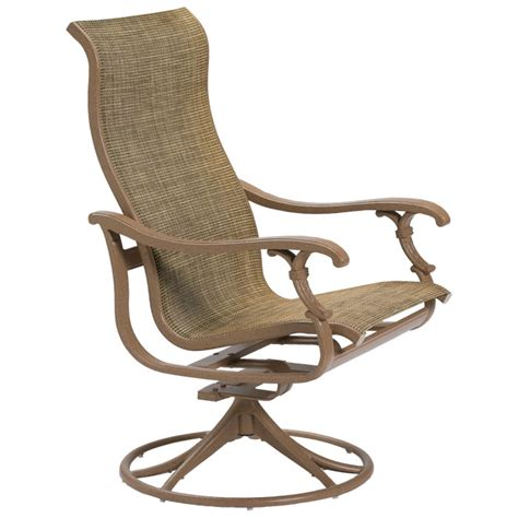 ravello sling high back swivel rocker tropitone