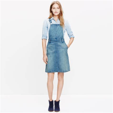 Cvic Dress Button Lace Jumper madewell denim jumper dress in blue lyst