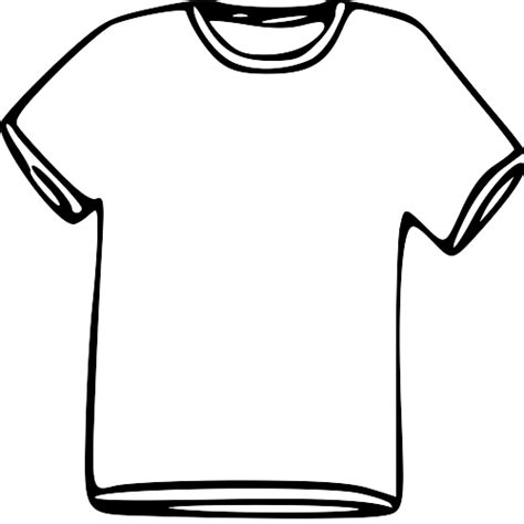 template of a outline of a t shirt template clipart best