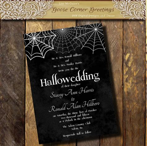 printable halloween wedding invitations printable halloween wedding invitation hallowedding