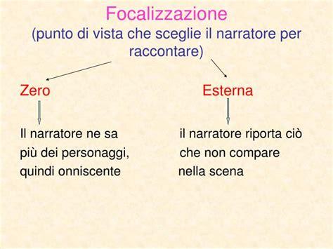 focalizzazione interna ppt analisi testo narrativo powerpoint presentation