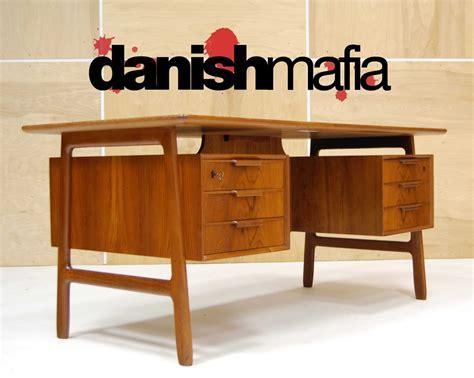 danish mid century modern desk mid century danish modern teak omann jun desk credenza