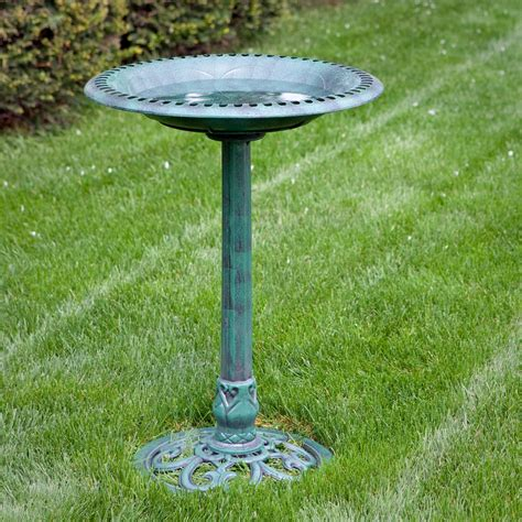 alpine resin classic scroll base bird bath bird baths at