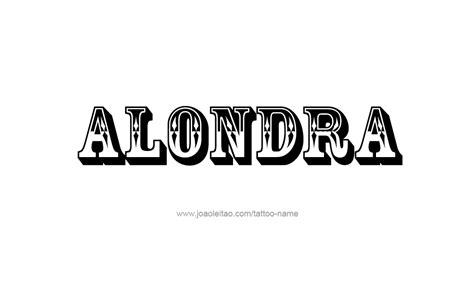 alondra name tattoo designs