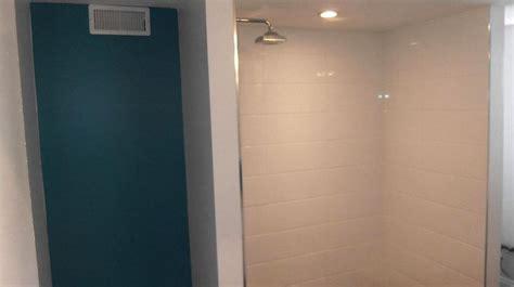 shower stall lighting basement bathroom