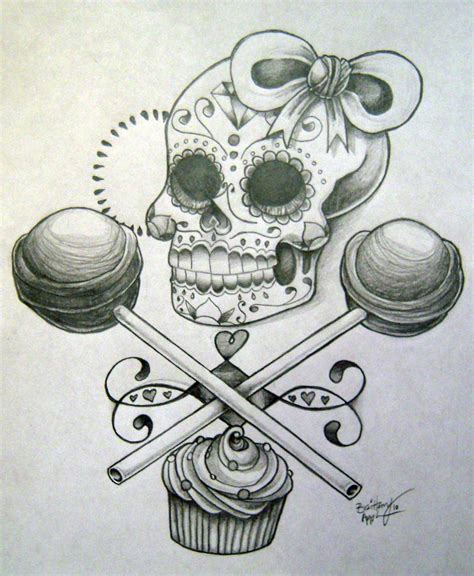 feminine sugar skull tattoo designs girly sugar skull designs