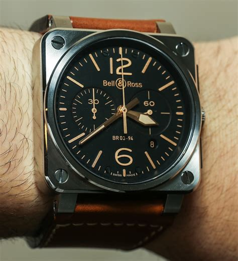 Bell Ross Br03 92 Limited Edition 30 Automobile Swiss Eta bell ross br 03 golden heritage watches on
