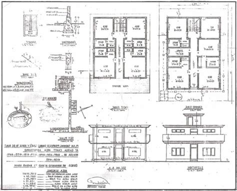 house plan elevation section residential building plan section elevation house floor
