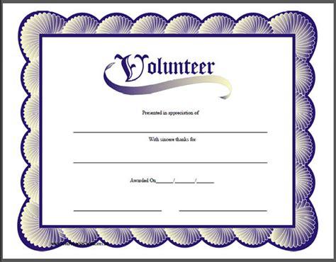 Volunteer Certificate Of Appreciation Templates Free Zrom