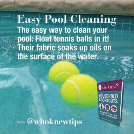 pool cleaning tips 15 crazy but useful tennis ball hacks