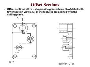 offset section view engineering drawing notes part a 2d drawing principles