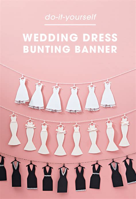 Wedding Bunting Banner by This Mini Wedding Dress Bunting Banner Is Just
