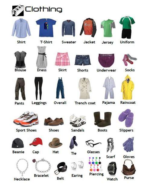 vocabulary nouns clothing