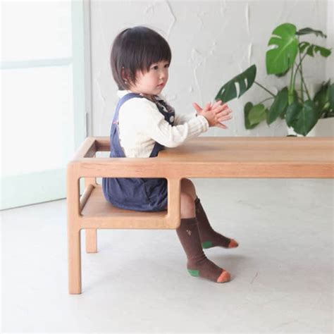 Baby Table Seat by Baby In Table A Table With Built In Baby Seat By Toa Ringyo Designrulz