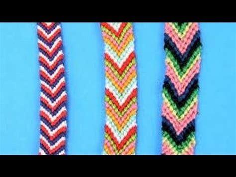 Make A With Stripes Jewelry by Diy Friendship Bracelets For Beginners Chevron Stripe