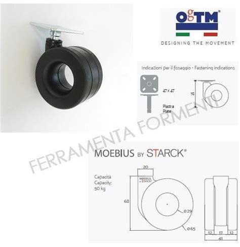 ruota per mobile ogtm moebius alta mm 78 con piastra